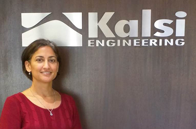 Mrs. Indira Grimes at the Kalsi Engineering offices in Sugar Land TX.