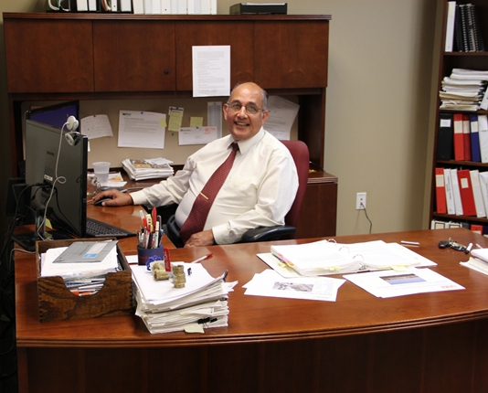 Dr. Eldiwany in his office at the Kalsi Engineering Sugar Land facility.