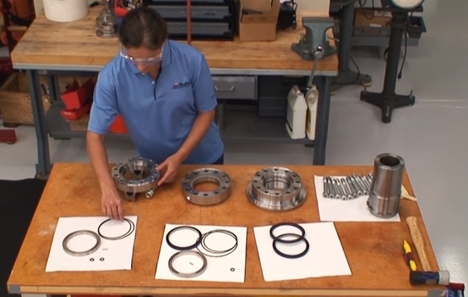 A new video shows how easy it is to assemble a high pressure washpipe assembly that uses our stacked housing arrangement and patent-pending floating metal backup rings. The backup rings allow the rotary seals to achieve their full high pressure potential by minimizing extrusion gap clearance.
