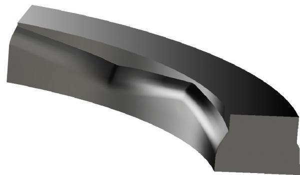 El diseño único de las juntas herméticas Kalsi proveen lubrificación hidrodinámica incluso bajo alta presión diferencial.