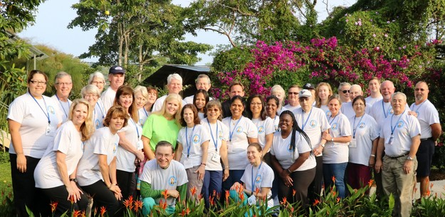 This is the 2017 mission team to Costa Rica. Daniel Alvarez is standing second from the right. During the mission, Daniel was a translator, dental equipment technician, dental assistant, dental triage examiner, X-ray technician assistant, vision team technician, bus driver, and assistant to the priest and spiritual team. It all depended on what was needed at the time.