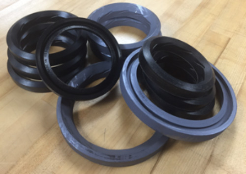 Kalsi-brand high pressure packing rings are currently available in four popular sizes. The patented inlets are provided to help to lubricate the dynamic sealing interface.