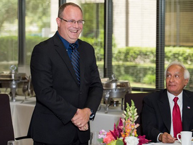 A luncheon was held to honor Ryan Sicking's 20 years of service at Kalsi Engineering.