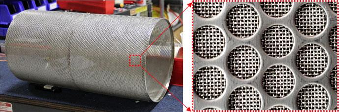 Figure 2: Screen mesh insert for the strainer.